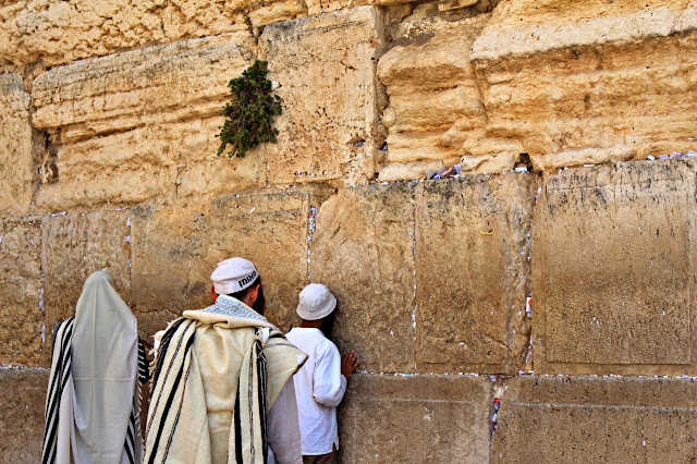 passioned prayers at the Wailing Wall in Jerusalem