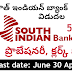 South India Bank PO Recruitment 2019