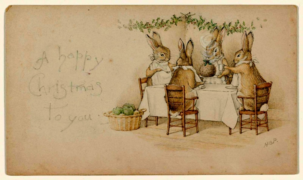 Happy Christmas Beatrix Potter 1890 Content In A Cottage