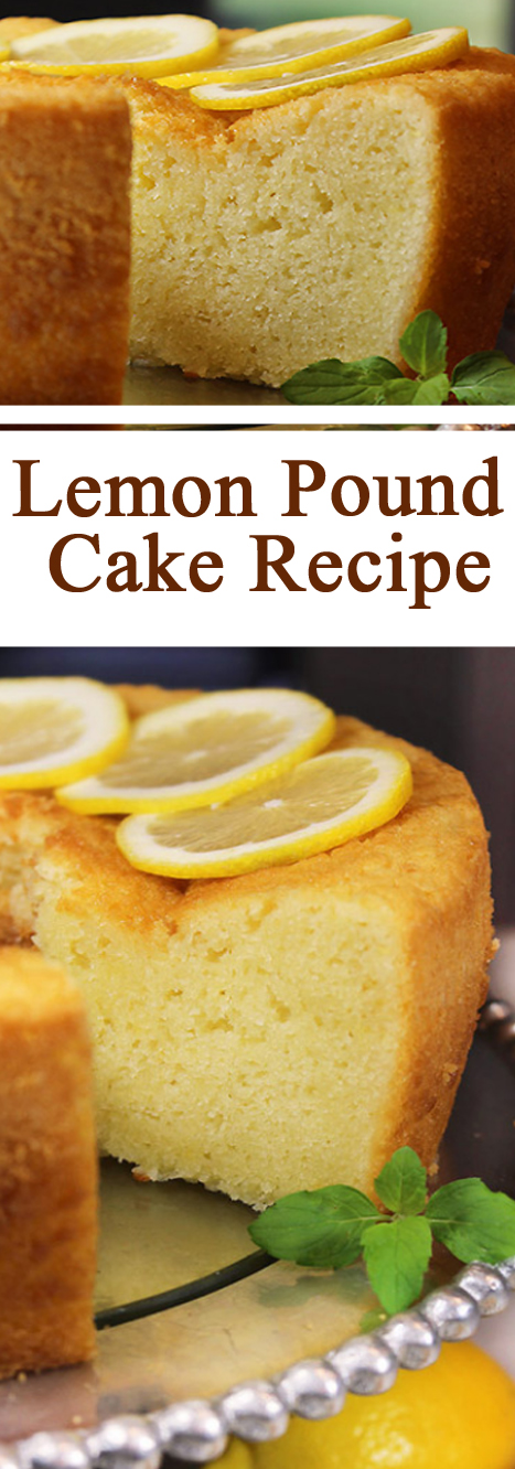 1920 Famous Ritz Carlton Lemon Pound Cake Recipe