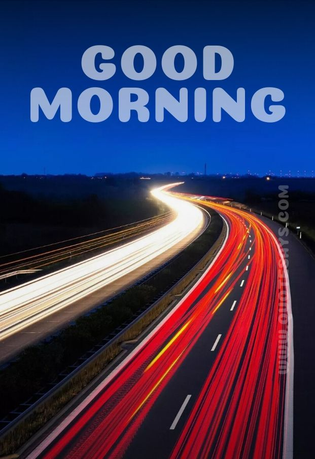 Beautiful Good Morning Lights of Highway