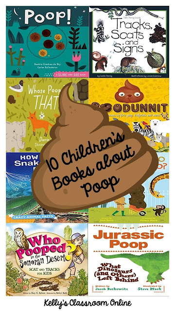 10+ Children's Books about Animal Poop by Kelly's Classroom Online