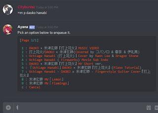 Cara Menggunakan Musik Ayana Bot Discord