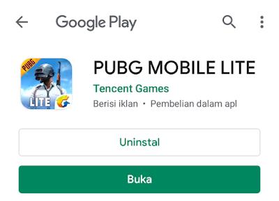 PUBG Mobile Lite Indonesia, Google Play Store