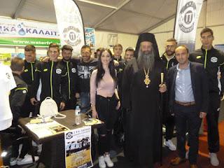 Επίσκεψη των ποδοσφαιριστών του Πιερικού στην Εμποροβιοτεχνική Έκθεση Πιερίας.