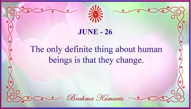 Thought For The Day June 26