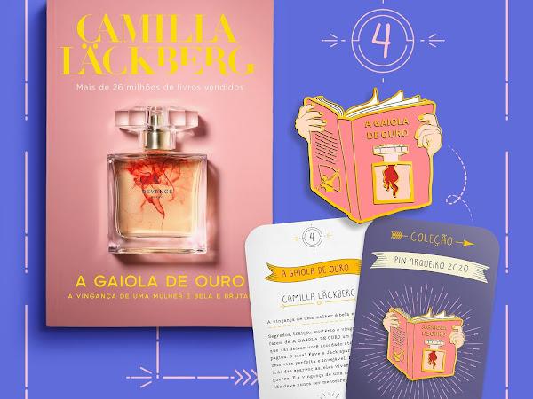 Coleção Pin Arqueiro 2020 #04: A Gaiola de Ouro, de Camilla Läckberg, autora com mais de 26 milhões de livros vendidos