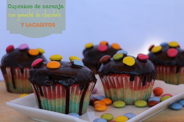 cupcakes-de-naranja-chocolate-y-lacasitos, lacasitos, orange-chocolate-cupcakes