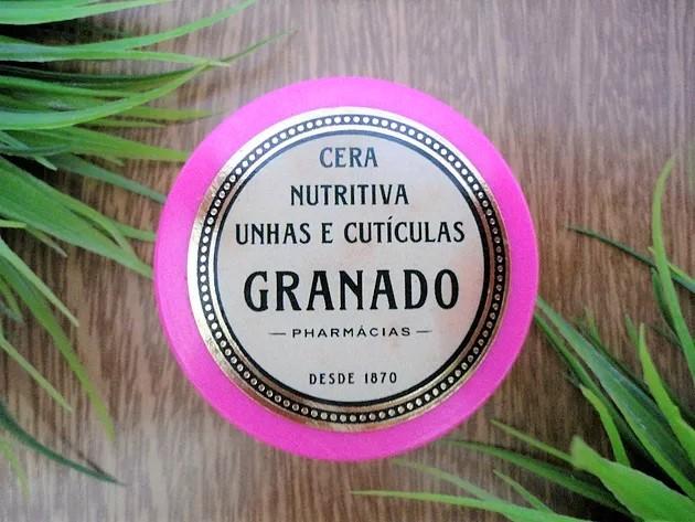 cera nutritiva unhas e cutículas granado