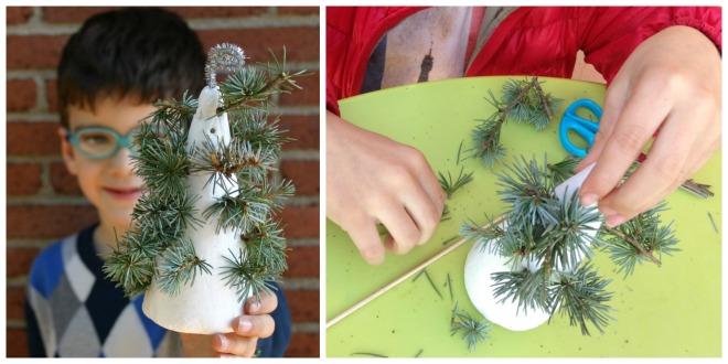 juegos y manualidades infantiles motricidad fina: adorno navideño porexpan