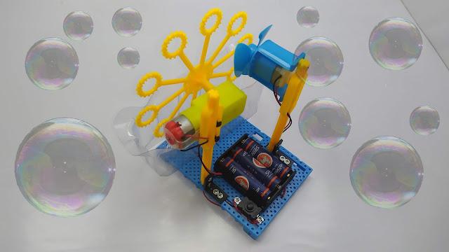 طريقة تركيب روبوت يصنع فقاعات الصابون  - STEAM DIY Bubble Blister Robot Machine Educational Kit