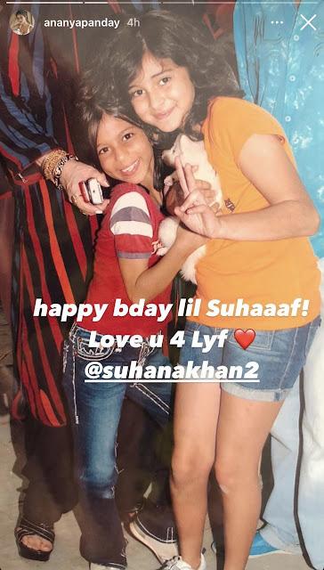 Actress Gossips: Ananya Pandey, Shanaya Kapoor, Navya Nanda post adorable throwback photos to wish bestie Suhana Khan on her birthday