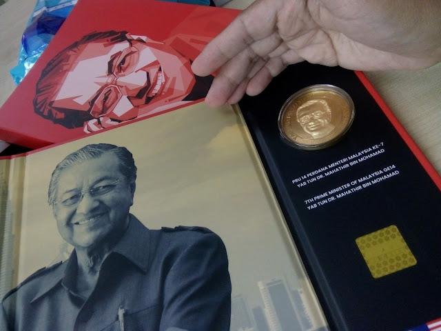 Syiling Peringatan Tun Mahathir Dengan Emas 999: Jadikan Koleksi