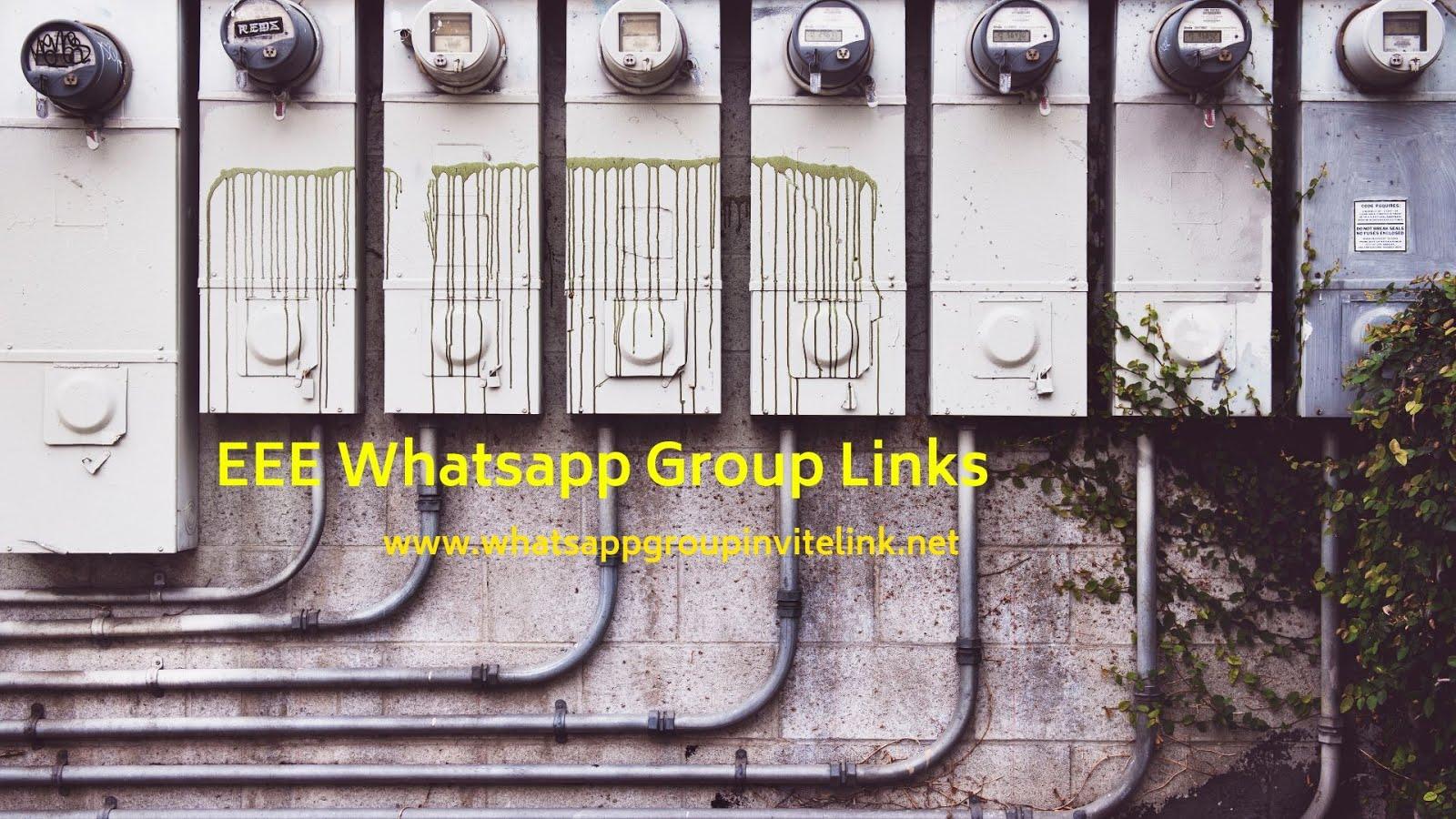 Whatsapp Group Invite Links: EEE Whatsapp Group Links