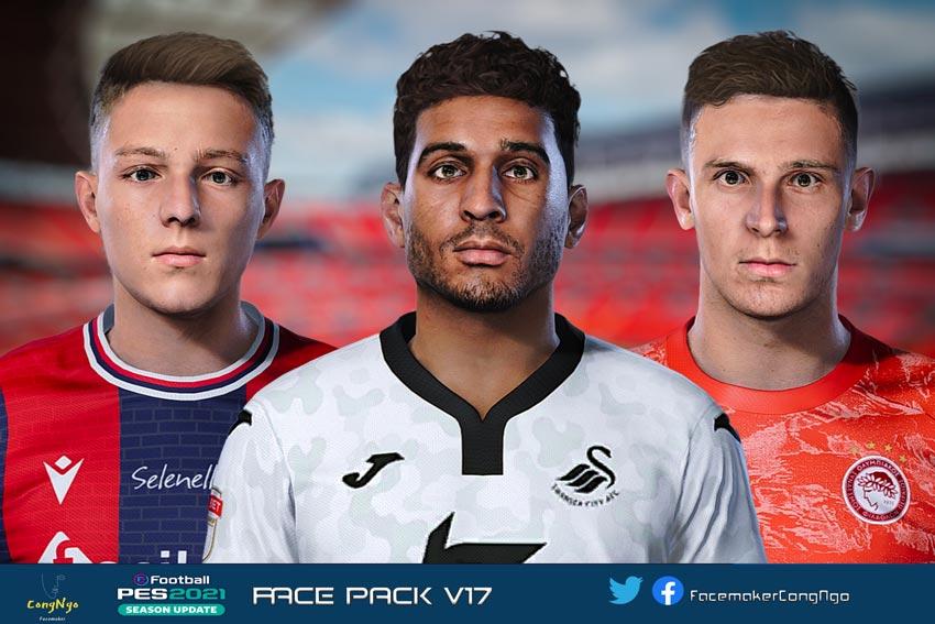 Facepack V17 2021 For eFootball PES 2021