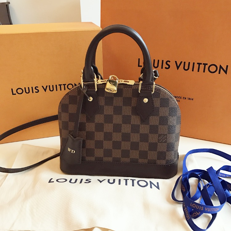 My New Louis Vuitton Alma Bb In Damier Ebene