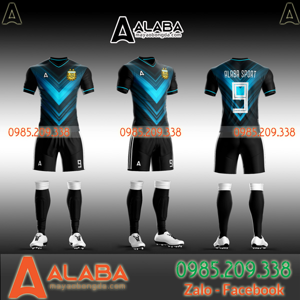 Áo bóng đá màu đen đẹp
