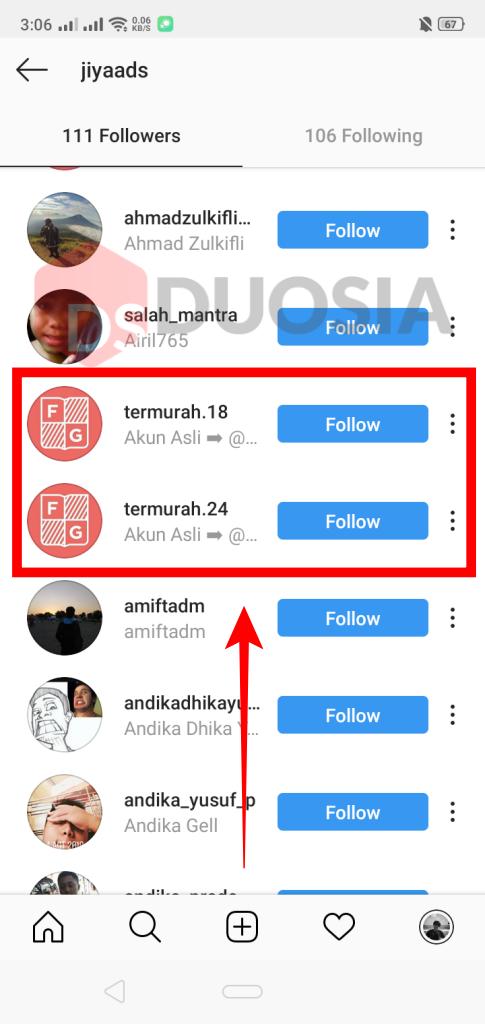hapus follower di instagram