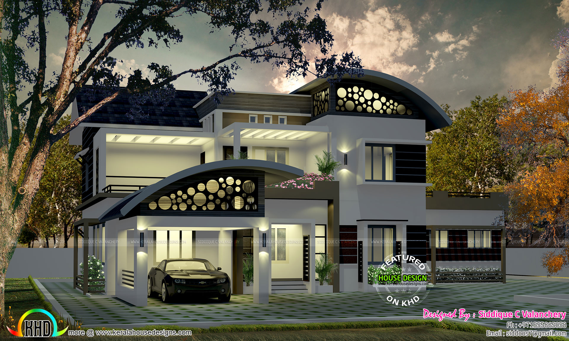 2240 square feet beautiful modern home kerala home 200 yards house design