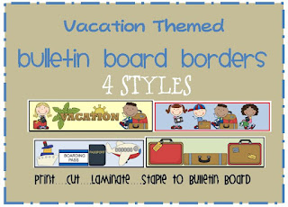 vacation themed bulletin board border