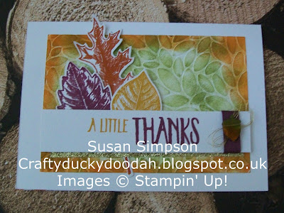 Stampin Up! UK Independent  Demonstrator Susan Simpson, Craftyduckydoodah!, Vintage Leaves, Leaflets Framelits, Petal Burst TIEF, Supplies available 24/7,