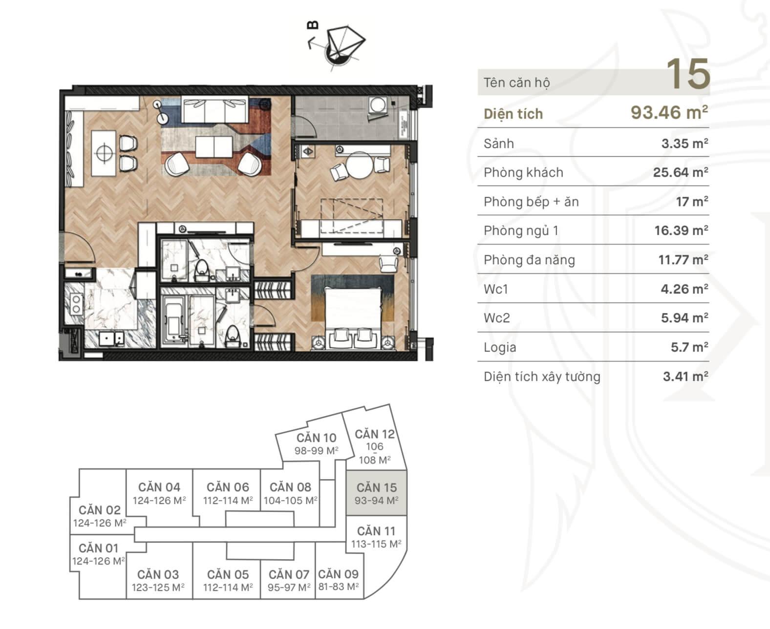 Thiết kế căn hộ 15 King Palace