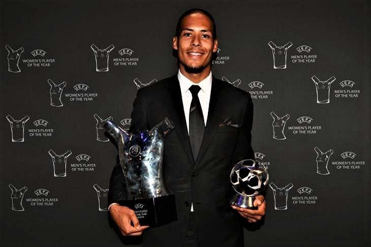 فان ديك يحصد جائزة أفضل لاعب فى اوروبا 2019