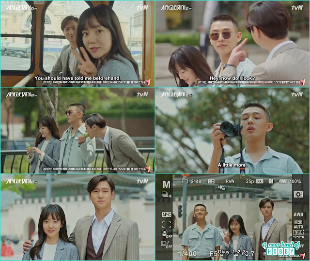 A tour around the city jin o finally see the general government building - Chicago Typewriter: Episode 9 korean drama