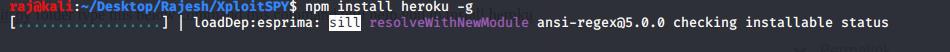 install the Heroku npm