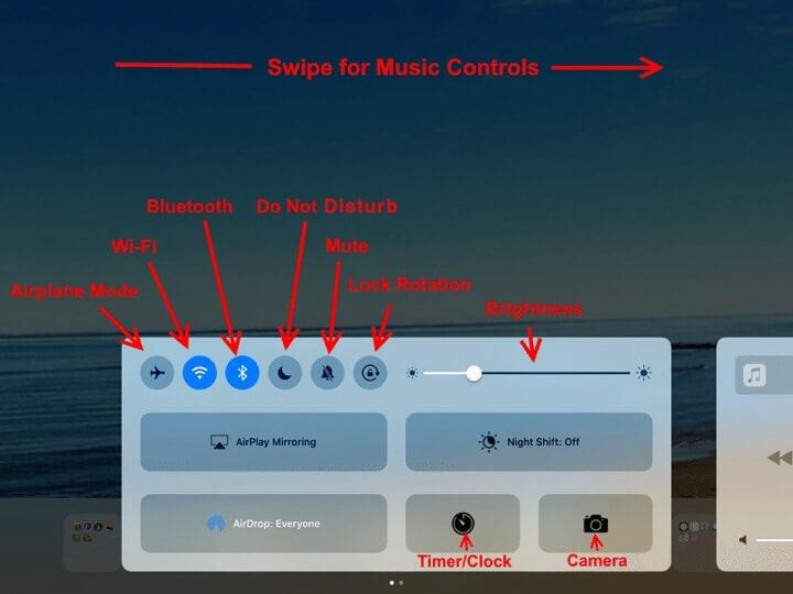 Control Panel iPad