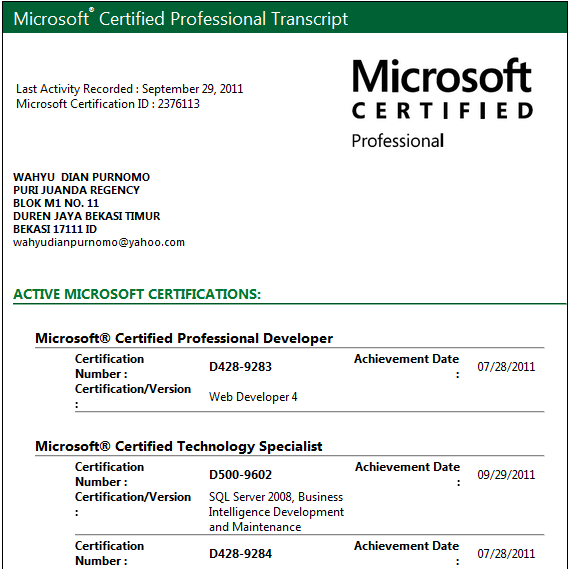 Microsoft Certified Technology Specialist Mcts Business