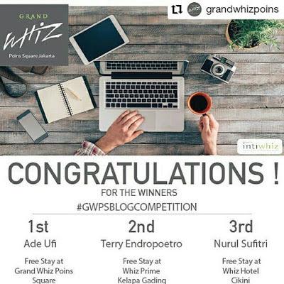 Review Hotel Grand Whiz Poins Square Jakarta Liburan Kuliner dan Penginapan Homey Nurul Sufitri Travel Lifestyle Blog