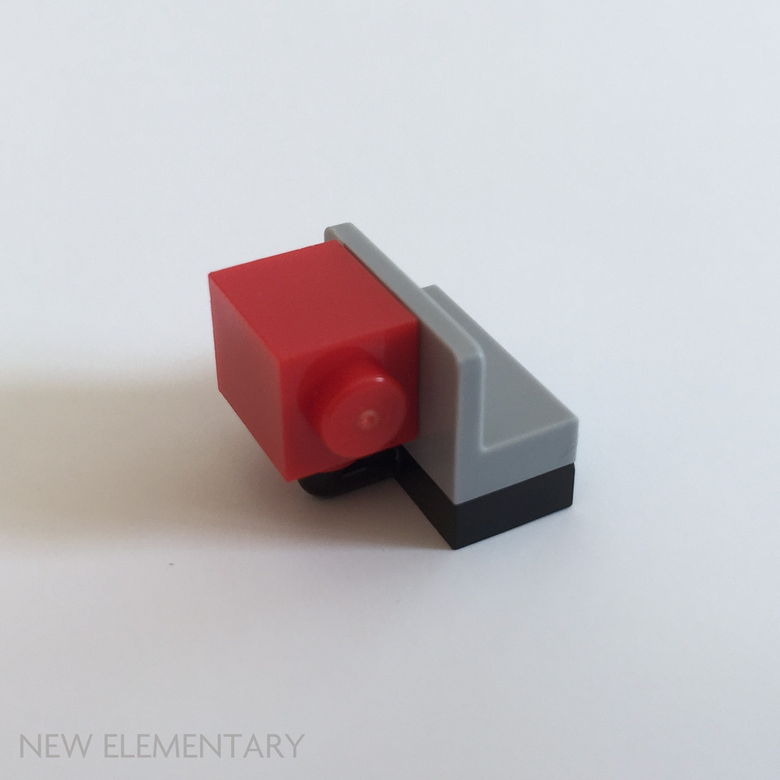 LEGO Lot of 4 Red 1x2 Bricks with Studs on Both Sides