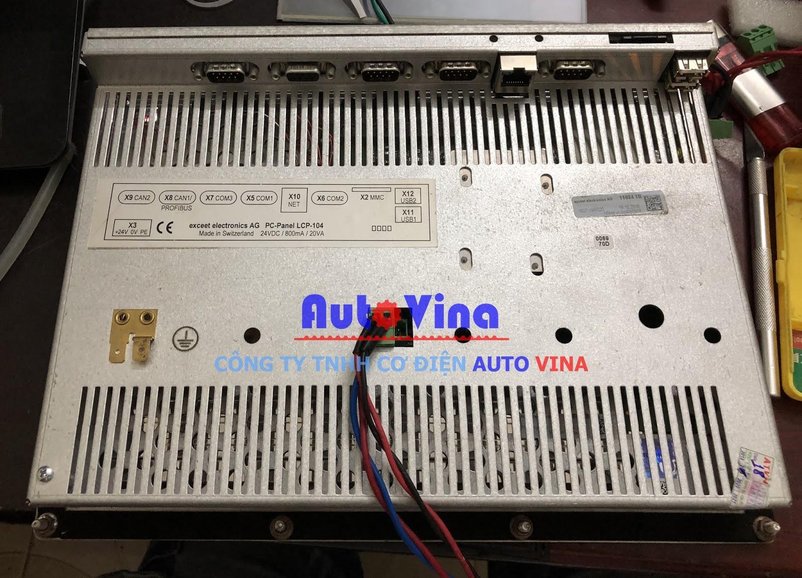 Hình ảnh mặt sau của màn hình BUHLER execeet electronics AG PC-Panel LCP-104