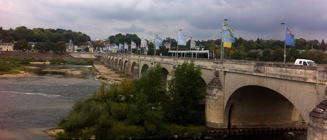Pont Wilson bridge over the river Loire in Tours,France