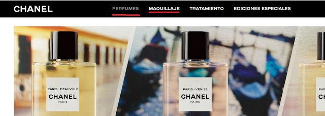 menu de perfumes Chanel