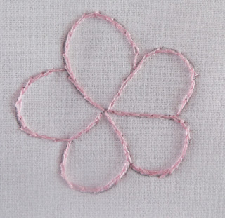 split stitch, flower embroidery,