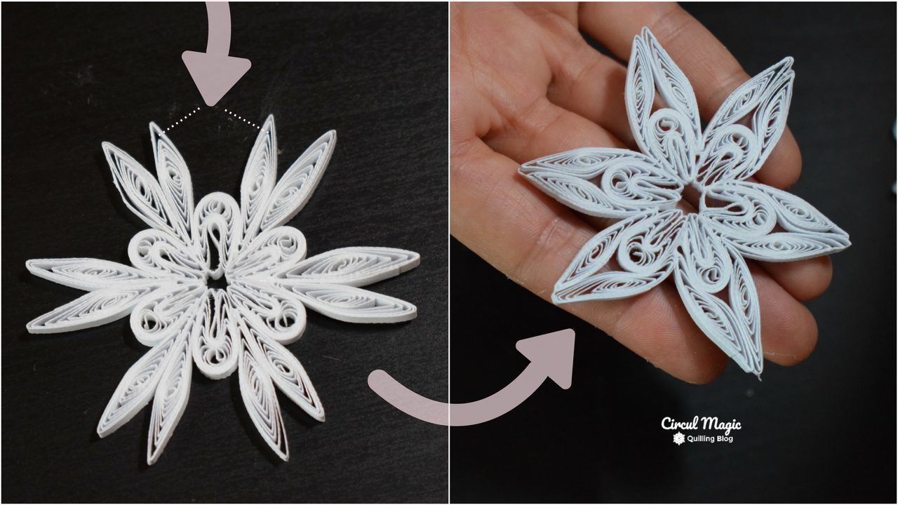 Ornamente Handmade pentru Craciun: Tutorial Fulg de Zapada Quilling