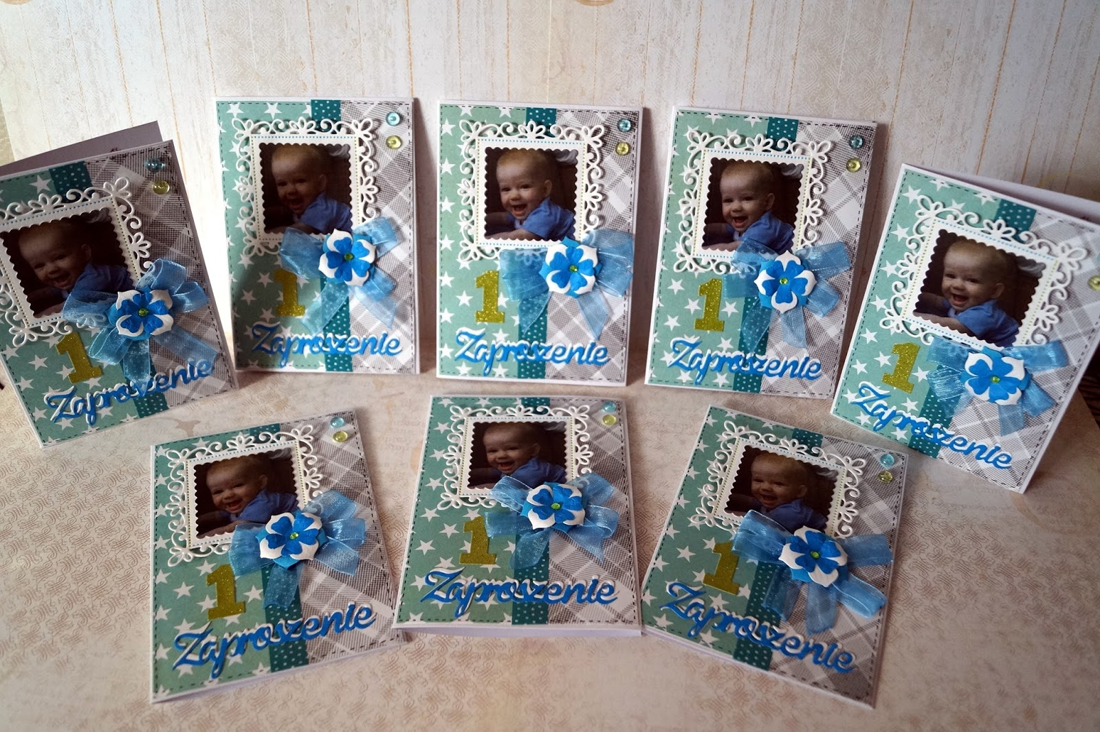 100 Hand Made Syliks Kartki Ręcznie Robione Zaproszenia Na Roczek