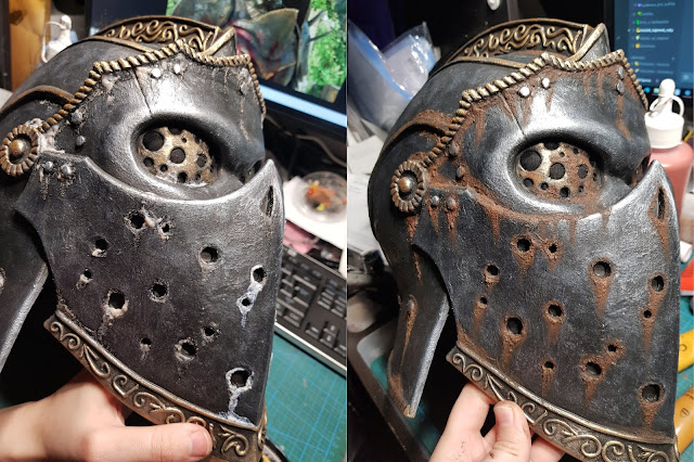 Fake rust effect made easy on foam armor – by Germia
