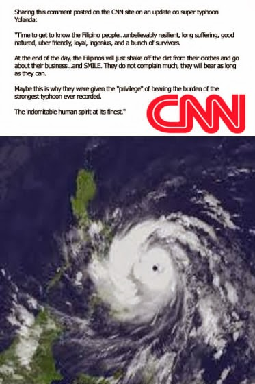 Original Source of CNN Heartfelt comment on the update of Super Typhoon Yolanda