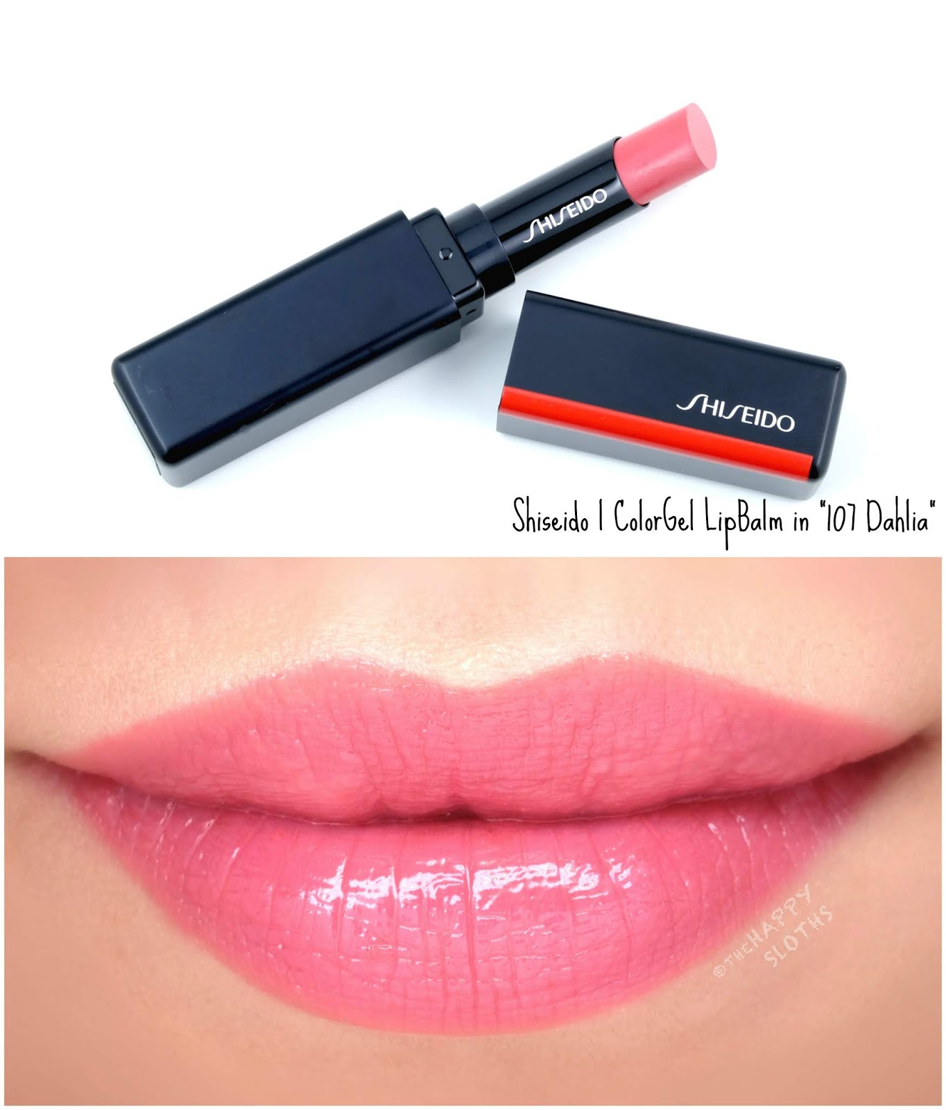 "Shiseido | ColorGel LipBalm in ""107 Dahlia"": Review and Swatches"