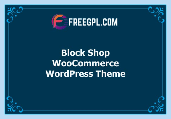 Block Shop WooCommerce Theme Free Download