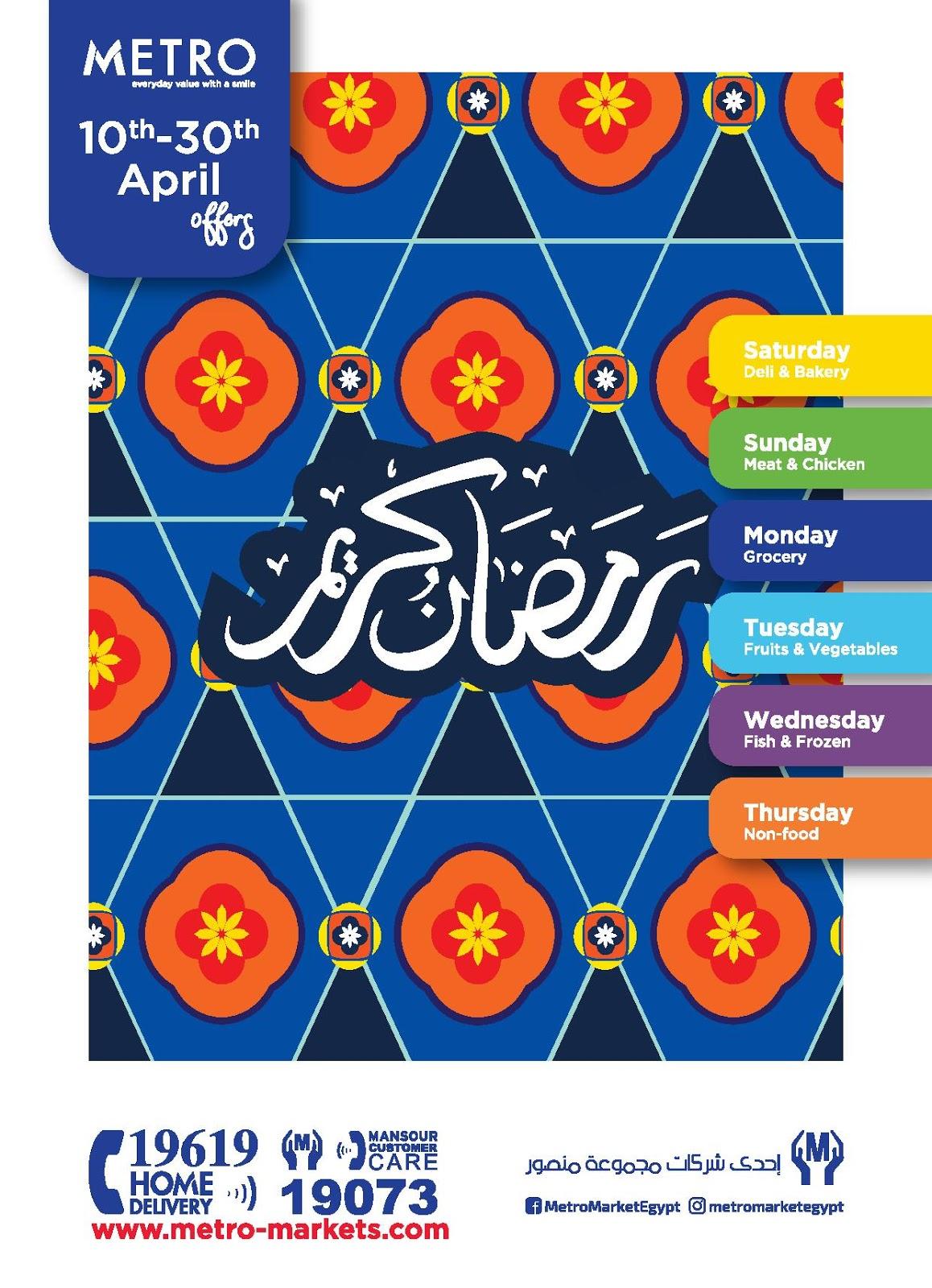 عروض مترو ماركت رمضان من 10 ابريل حتى 30 ابريل 2020
