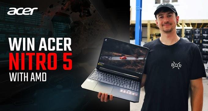 Sorteio Notebook Gamer Aspire Nitro 5
