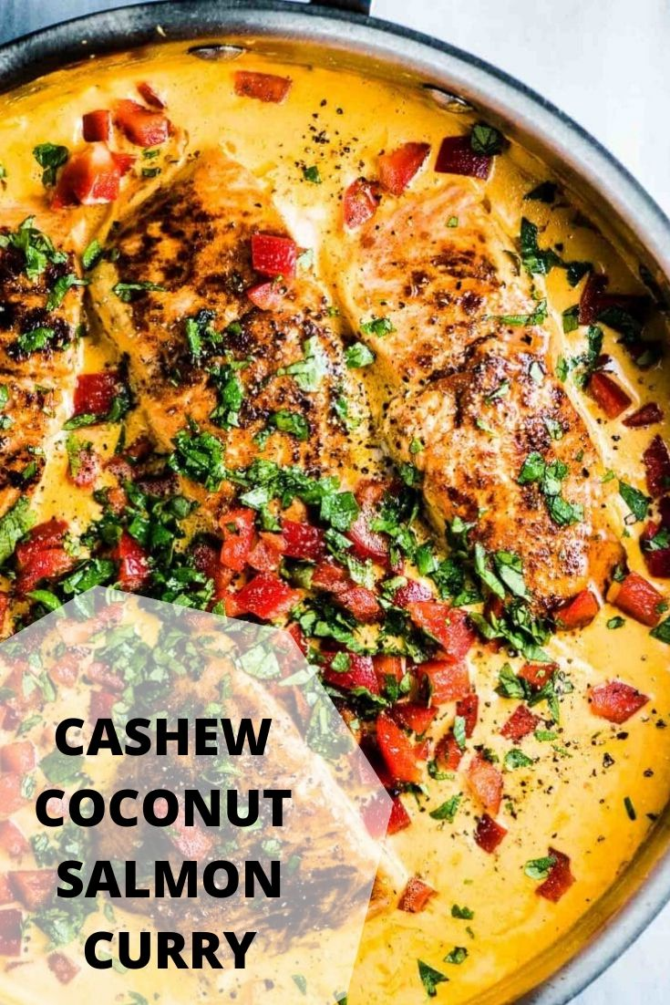 CASHEW COCONUT SALMON CURRY