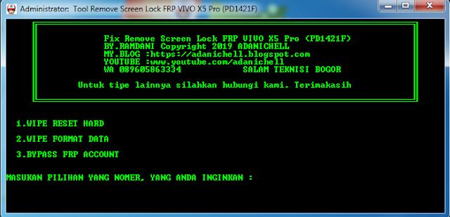 Unlock Lupa Pola/Password Hp Vivo X5 Pro (PD1421F)