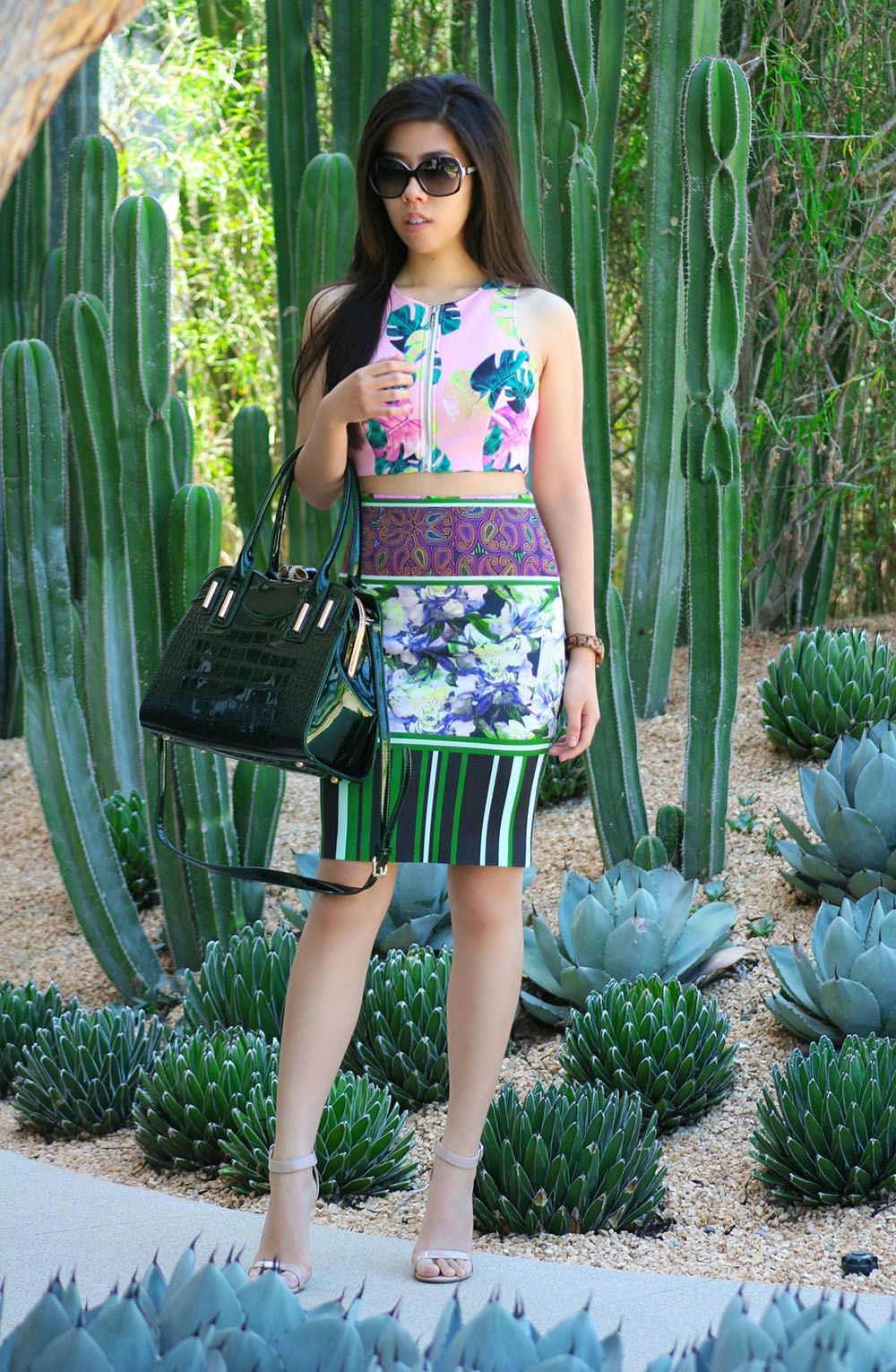 Adrienne Nguyen_Leaf Crop Top_Pink Crop Top_Nordstrom Style Blogger