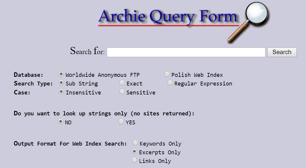 أول محرك بحث في الإنترنت