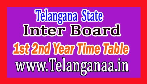 Telangana TS Inter 1st & 2nd Year March 2017 Exam Time Table
